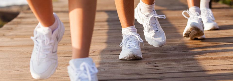 walking flying feet sports shoes